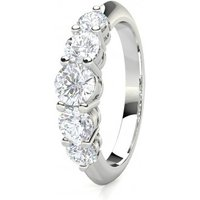 Five Stone Diamond Ring White Gold 1.15ct H-I I1