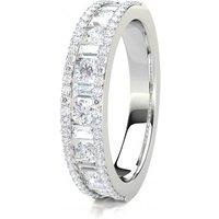 Diamond Half Eternity Ring White Gold 0.80ct F-G SI