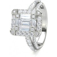 Cluster Diamond Ring White Gold 1.35ct H-I I1