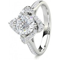 Halo Engagement Ring in White Gold with 0.90ct Diamond H I1