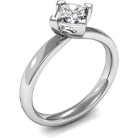Solitaire Engagement Ring in White Gold with 0.50ct Diamond H I1
