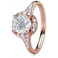 4 Prong Setting Side Stone Halo Engagement Ring