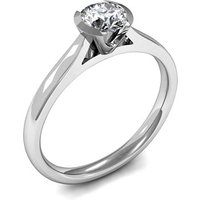 Solitaire Engagement Ring in White Gold with 0.60ct Diamond H I1