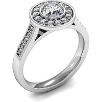 Halo Engagement Ring in White Gold with 0.60ct Diamond H I1