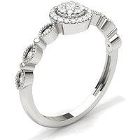 Diamond Cluster Ring in Prong Setting with 0.1700 ct. wt