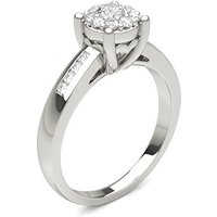 Diamond Cluster Ring in Prong Setting with 0.30 ct. Diamond H-I I1