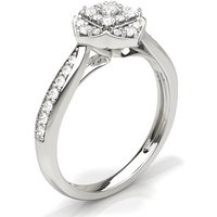 Diamond Cluster Ring in Prong Setting with 0.35 ct. Diamond H-I I1