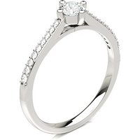 Diamond Side Stone Engagement Ring with \n0.25 ct. Diamond H I1