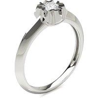 Engagement Ring inWhite Gold with 0.20ct Diamond