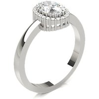Diamond Engagement Ring in Prong Setting with 0.40 ct. Diamond H SI1