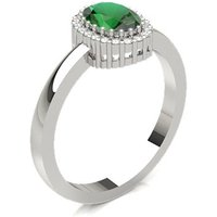 Oval Halo Engagement Ring in Prong Setting with 0.4000 ct.wt