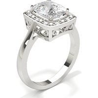 Diamond Engagement Ring in 4 Prong Setting with 1.40 ct. Diamond H SI1