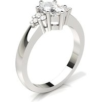 Diamond Engagement Ring in 6 Prong Setting with 0.60 ct. Diamond H SI1