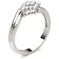 Diamond Cluster Ring in Prong Setting with 0.15 ct. Diamond H-1 I1