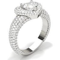 Diamond Fashion Ring in Pave Setting with 1.00 ct. Diamond H-1 I1