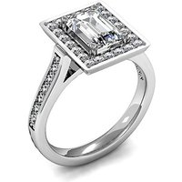 Halo Engagement Ring in White Gold with 0.60ct Diamond H SI1