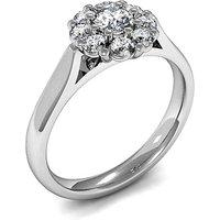 Cluster Diamond Ring White Gold 0.15ct H-I I1