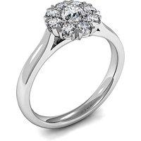 Cluster Diamond Ring White Gold 0.35ct H-I I1