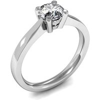 Solitaire Engagement Ring in White Gold with 0.30ct Diamond H I1