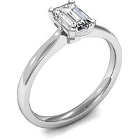 Solitaire Engagement Ring in White Gold with 0.30ct Diamond H SI1