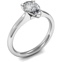 Solitaire Engagement Ring in White Gold with 0.50ct Diamond H SI1