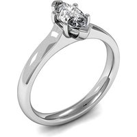 Solitaire Engagement Ring inWhite Gold with 0.40ct Diamond H SI1