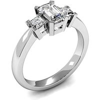 Trilogy Engagement Ring in White Gold with 0.90ct Diamond H-I SI
