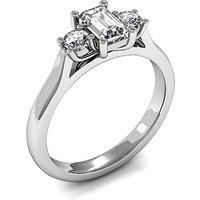 TrilogyEngagement Ring inWhite Gold with 0.40ct Diamond H-I SI