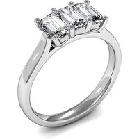 Trilogy Engagement Ring in White Gold with 0.75ct Diamond H-I SI