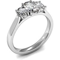 Trilogy Engagement Ring in White Gold with 0.80ct Diamond H-I SI