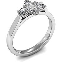 Trilogy Engagement Ring in White Gold with 0.35ct Diamond H-I SI