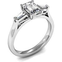 Trilogy Engagement Ring in White Gold with 0.65ct Diamond H-I SI