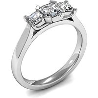 Trilogy Engagement Ring in White Gold with 1.55ct Diamond H-I SI