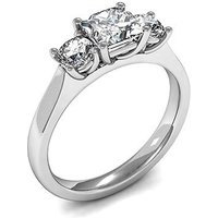 TrilogyEngagement Ring inWhite Gold with 0.45ct Diamond H-I SI