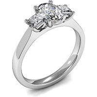 Trilogy Engagement Ring in White Gold with 0.55ct Diamond H-I SI