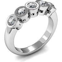 Five Stone Diamond Ring White Gold 0.50ct H-I I1