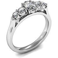 Five Stone Diamond Ring White Gold 0.85ct H-I SI