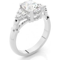 Side Stone Engagement Ring in White Gold with 2.00ct Diamond H SI1