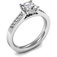 Side Stone Engagement Ring inWhite Gold with 0.30ct Diamond H I1