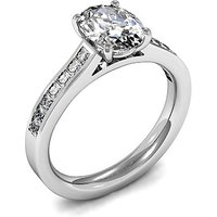 Side Stone Engagement Ring in White Gold with 0.45ct Diamond H SI1