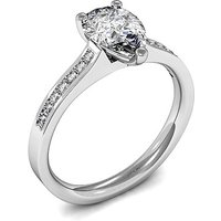 Side Stone Engagement Ring in White Gold with 0.30ct Diamond H SI1