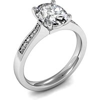Side Stone Engagement Ring in White Gold with 0.20ct Diamond H SI1