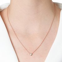 Sacet Classic Pave Diamond Round Necklace