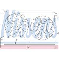 Nissens Car Fan radiator 85404