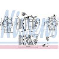 Nissens Compressor air conditioning 890025
