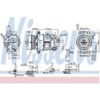 Nissens Compressor air conditioning 890030