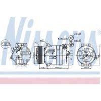 Nissens Compressor air conditioning 89057