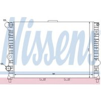 60038 Nissens Radiator engine cooling