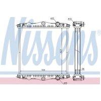 614450 Nissens Radiator Thermal engine cooling