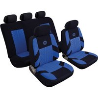 Car Seat Cover Precision - Set - Black/Blue 14401 REZISTANZ